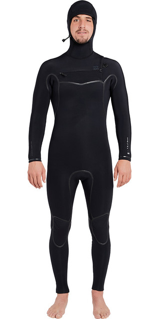 2018 Billabong Furnace Carbon Ultra 5/4mm Hooded Chest Zip Wetsuit Black L45m20 Picture