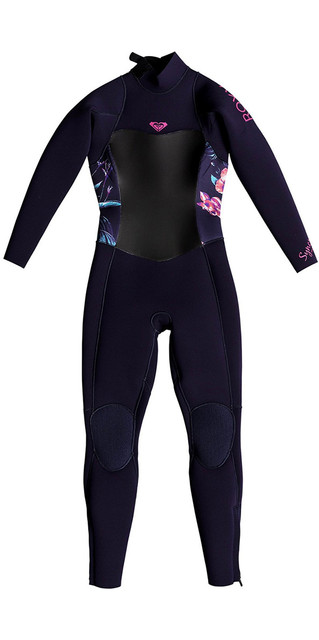 2018 Roxy Toddler Syncro 4/3mm Back Zip Wetsuit Blue Ribbon Erlw103002 Picture