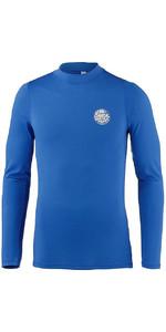 2019 Rip Curl Mens Corpo Long Sleeve UV Tee Rash Vest Blue WLE8QM
