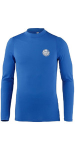 2019 Rip Curl Mens Corpo Long Sleeve UV Tee Rash Vest Blue WLE8QM