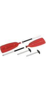 Bravo 2 in 1 Convertible Paddle - Kayak 2.15 / Canadian Canoe 1.50M RED