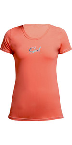 Gul Womens Tee Fit Short Sleeve Rash Vest CORAL RG0367-B2