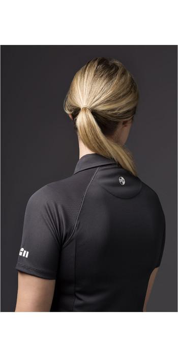 2021 Gill Womens UV Tec Polo Top Charcoal UV008W
