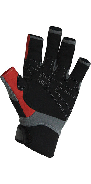 Crewsaver Deckhand PRO Short Finger Gloves Grey / Red 6324