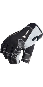 2019 Crewsaver Junior Short Finger Gloves Black 6950