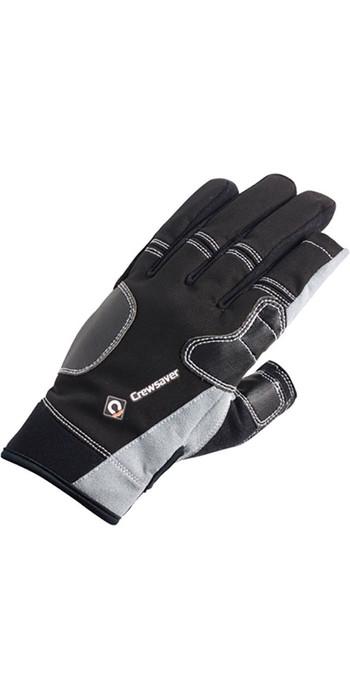 2020 Crewsaver Junior Long Three Finger Gloves Black 6951