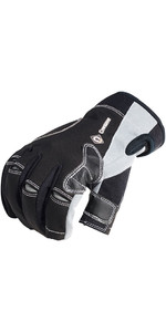 2019 Crewsaver Junior Long Three Finger Gloves Black 6951