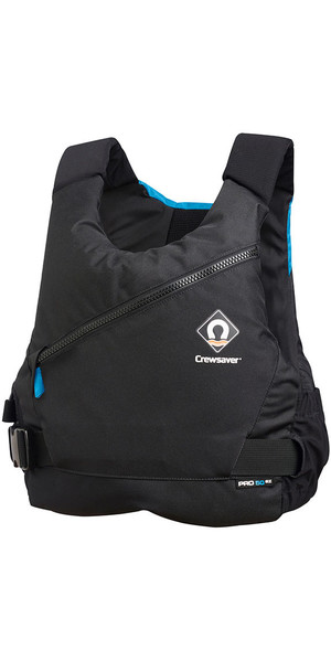 2019 Crewsaver Junior Pro 50N Side Zip Buoyancy Aid Black / Blue 2620J