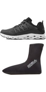 2021 Gul Aqua Grip Shoe & 0.5mm Power Sock Bundle - Black