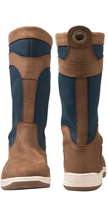 2021 Gul Fastnet Deck Boots Tan / Navy DS1005-A5