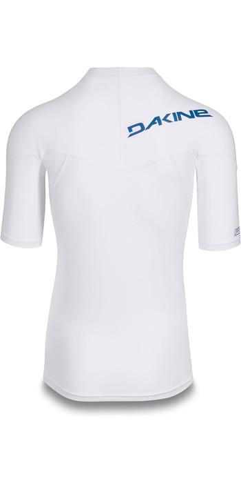 2019 Dakine Mens Heavy Duty Snug Fit Short Sleeve Rash Vest White 10002281