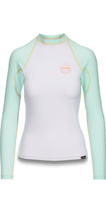 2019 Dakine Womens Flow Snug Fit Long Sleeve Rash Vest Pastel 10002331