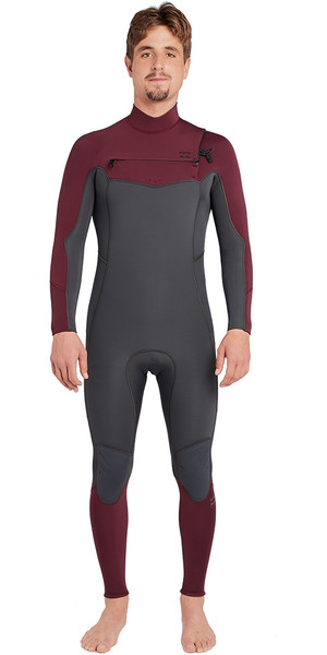 2018 Billabong Furnace Absolute 4/3mm Chest Zip Wetsuit Dark Plum L44M09