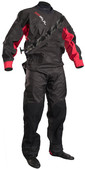 2020 GUL Junior Dartmouth Eclip Zip Drysuit BLACK / RED GM0378-B5