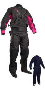 2020 GUL Womens Dartmouth Drysuit + Underfleece Black / Pink GM0383-B5