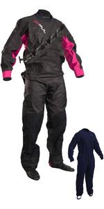 2020 GUL Womens Dartmouth Drysuit + Underfleece Black / Pink GM0383-B5