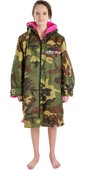 2020 Dryrobe Advance Long Sleeve Premium Outdoor Change Robe DR104 - Camo / Pink