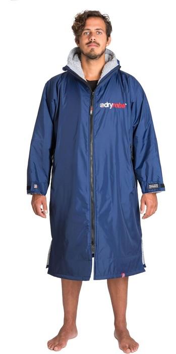 2021 Dryrobe Advance Long Sleeve Premium Outdoor Change Robe / Poncho DR104 - Navy / GREY