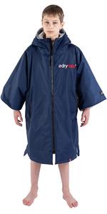 2021 Dryrobe Advance Junior Short Sleeve Premium Outdoor Change Robe / Poncho DR100 - Navy / Grey