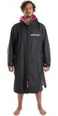 2021 Dryrobe Advance Long Sleeve Premium Outdoor Change Robe / Poncho DR104 - Black / Pink