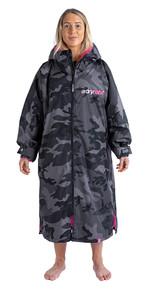2021 Dryrobe Advance Long Sleeve Premium Outdoor Change Robe / Poncho DR104 Black / Camo / Pink