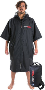 2019 Dryrobe Advance Short Sleeve Premium Change Robe & Compression Travel Bag Package Deal - Black / Grey