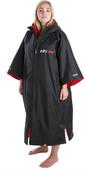 2020 Dryrobe Advance Short Sleeve Premium Outdoor Change Robe / Poncho DR100 - Black / Red