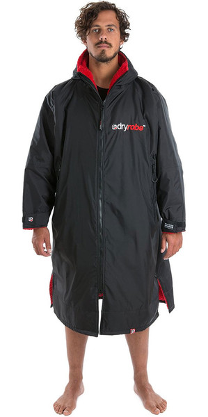 2018 Dryrobe Advance - Long Sleeve Premium Outdoor Change Robe DR104 - L Black / Red
