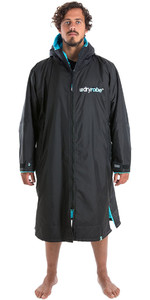 2020 Dryrobe Advance Long Sleeve Premium Outdoor Change Robe / Poncho DR104 Black / Blue