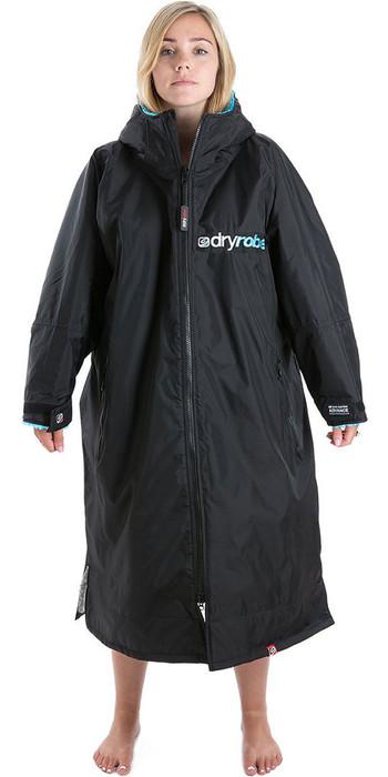 2020 Dryrobe Advance Long Sleeve Premium Outdoor Change Robe / Poncho DR104 Black / Blue