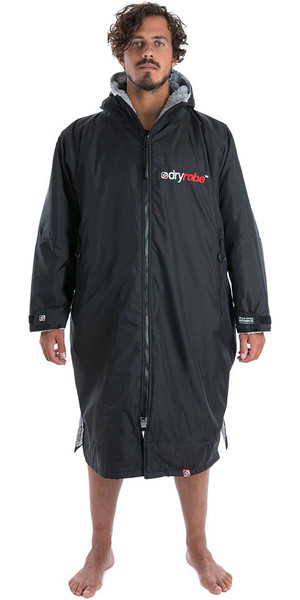 2018 Dryrobe Advance - Long Sleeve Premium Outdoor Change Robe DR104 - M Black / Grey