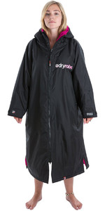 2019 Dryrobe Advance Long Sleeve Premium Outdoor Change Robe / Poncho DR104 Black / Pink