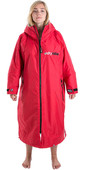 2020 Dryrobe Advance Long Sleeve Premium Outdoor Change Robe / Poncho DR104 - Red / Grey