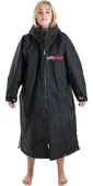 2020 Dryrobe Advance Long Sleeve Premium Outdoor Change Robe /  Poncho DR104 - Black / Grey