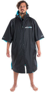 2020 Dryrobe Advance Short Sleeve Premium Outdoor Change Robe / Poncho DR100 - Black / Blue