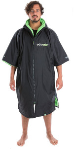 2019 Dryrobe Advance Short Sleeve Premium Outdoor Change Robe / Poncho DR100 Black / Green