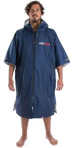 2019 Dryrobe Advance Short Sleeve Premium Outdoor Change Robe / Poncho DR100 Navy / Grey