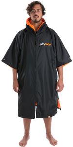 2019 Dryrobe Advance Short Sleeve Premium Outdoor Change Robe DR100 - Black / Orange