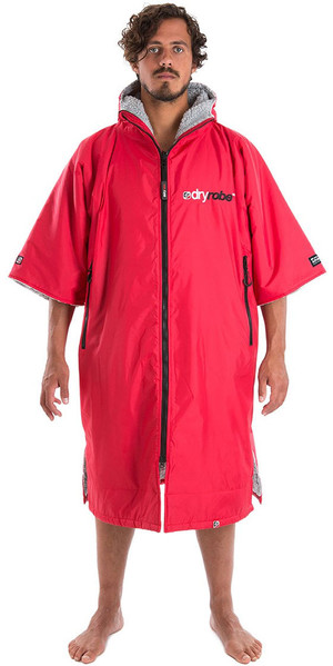 2018 Dryrobe Advance - Short Sleeve Premium Outdoor Change Robe DR100 - L Red / Grey