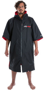 2019 Dryrobe Advance Short Sleeve Premium Outdoor Change Robe DR100 Black / Red