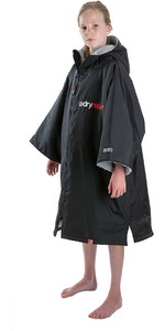 2020 Dryrobe Advance Junior Short Sleeve Premium Outdoor Change Robe / Poncho DR100 - Black / Grey