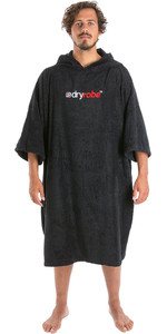 2019 Dryrobe Short Sleeve Towel Change Robe / Poncho Black