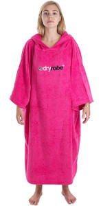 2019 Dryrobe Short Sleeve Towel Change Robe / Poncho Pink