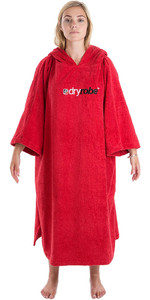 2019 Dryrobe Short Sleeve Towel Change Robe / Poncho Red
