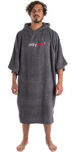 2020 Dryrobe Short Sleeve Towel Change Robe / Poncho SS TD SG - Slate Grey