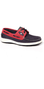 2019 Dubarry Cannes Deck Shoes Denim / Red 3754