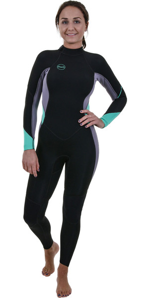 2019 O'Neill Womens Bahia 3/2mm Back Zip Wetsuit Black / Dusk 5292