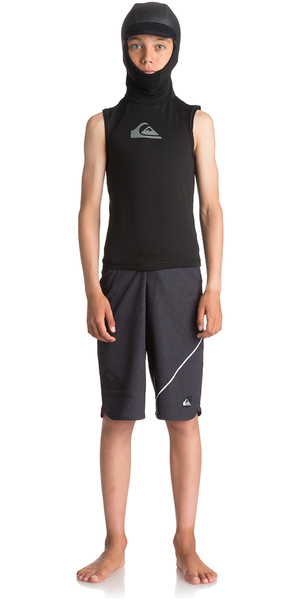 2018 Quiksilver Junior Syncro + Thermal Vest with Neo Hood Black EQBW003001