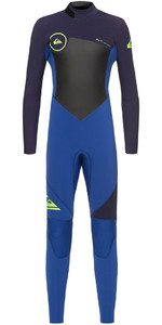 Quiksilver Boys Syncro 4/3mm Back Zip Wetsuit Nite Blue / Blue Ribbon EQBW103027