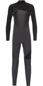 Quiksilver Boys Syncro 4/3mm Back Zip Wetsuit Graphite / Black EQBW103027